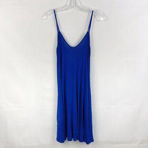 Boohoo | Solid Blue Scoop Neck Tank Top Dress